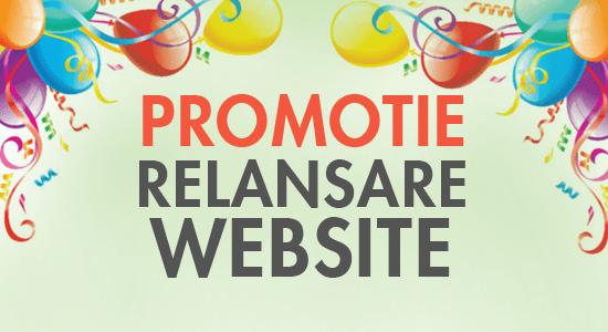 Promotie relansare site